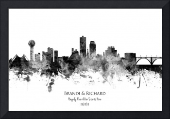 Knoxville Tennessee Skyline Custom Text Version
