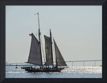 Pride of Baltimore II Under Sail