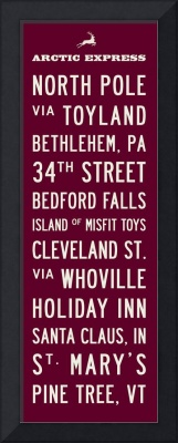 Christmas Transit Sign