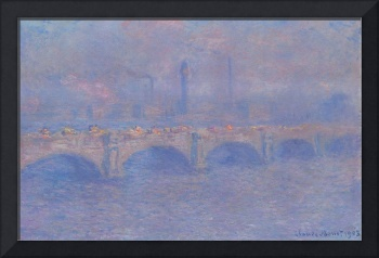 Waterloo Bridge, Sunlight Effect by Monet