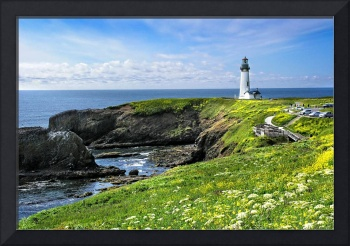 Yaquina Head Lighthouse in Spring