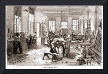 Carpenters' Shop- Illustrated London News 1869