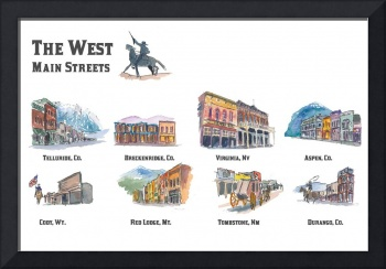 USA Wild West Towns Main Streets - Telluride, Brec