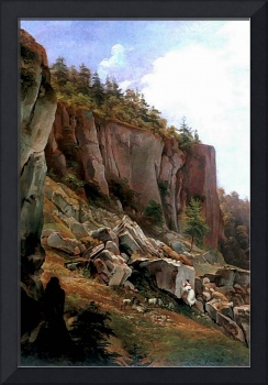 Glowacki 1844 Hillside with rock Face - PD Image