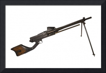 Japanese Type 11 light machine gun, used during Wo