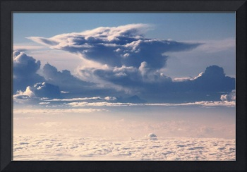 Thunderheads over a sea of clouds