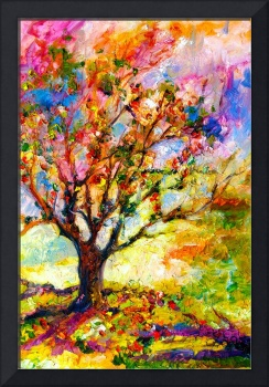 Abstract Grandmas Apple Tree by Ginette