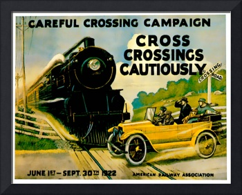 Careful Crossing Campaigh Vintage Auto Ad