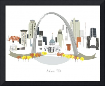 St. Louis Modern Cityscape Illustration