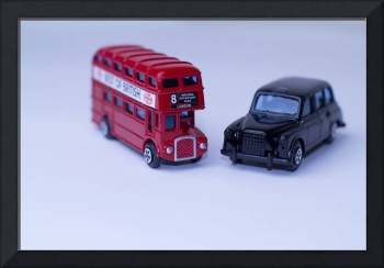 London Routemaster Bus And London Black Cab