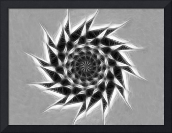 Gray Kaleidoscope Art 23