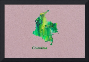 Artistic Map of Colombia