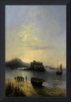 Perrot  1830 - Fishermen Back from Chateau d'If -