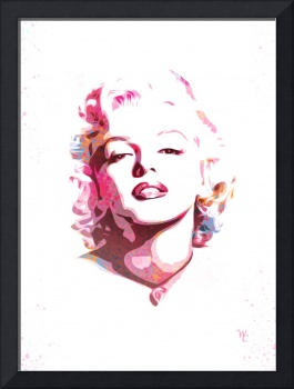 Marilyn Monroe - Watercolor - Pop Art