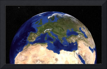 Earth showing the Mediterranean Sea.