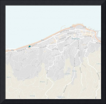 Minimalist Modern Map of Trabzon, Turkey