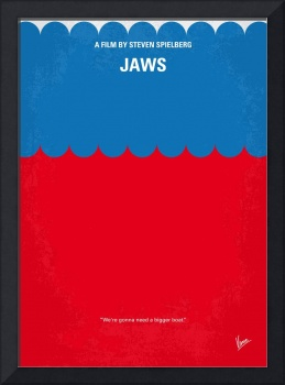 No046 My Jaws minimal movie poster