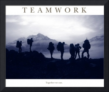 Teamwork- Together we can Motivational Poster
