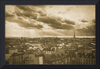 Vintage retro Paris with Eiffel Tower 5