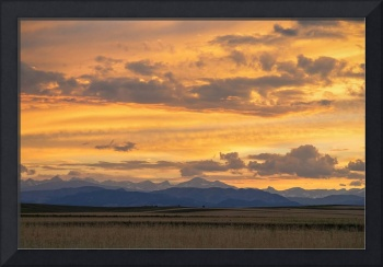 High Plains Meet the Rocky Mountains at Sunset