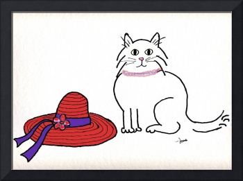 Purrfect Art for the Red Hat Ladies