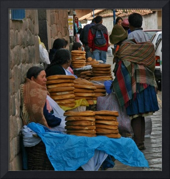 Bread seller, Cuzco