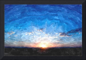 Blue Sky Sunset Landscape