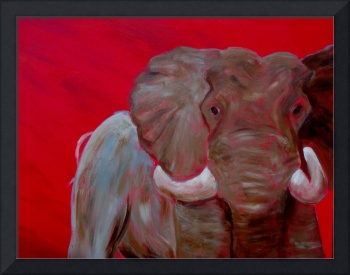 Elephant in Red