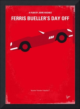 No292 My Ferris Bueller's day off minimal movie po