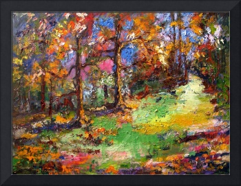 Forest - Oil Painting by Ginette callaway
