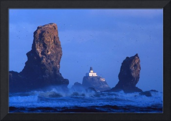 Seastacks And Tillamook Rock Lighthouse