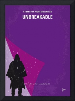 No986 My Unbreakable minimal movie poster