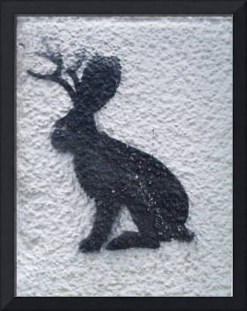 rabbit moose graffitti