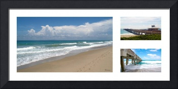Juno Beach Pier Florida Seascape Collage 2