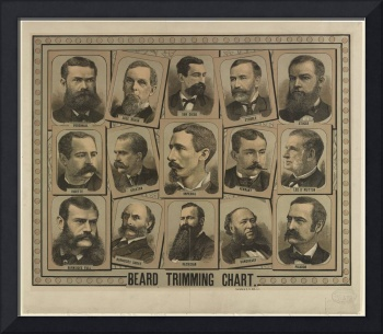 Beard Trimming Chart from 1884