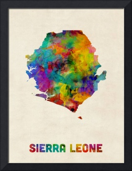 Sierra Leone Watercolor Map