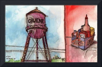 Gruene, Texas Water Tower (Hill Country Sketchbook