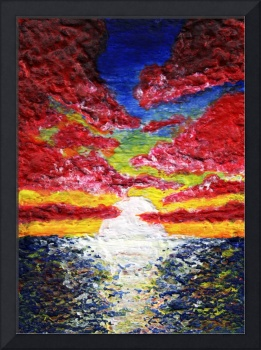 Dawn of a New Day Seascape Sunrise Painting 141a