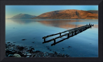 Fort William and Loch Linnhe land and sea scape