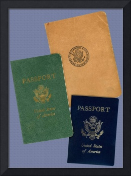 United States Passport Covers used 20th Century