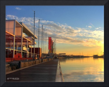 Sunrise at the America's Cup pier