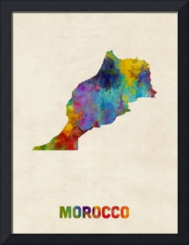 Morocco Watercolor Map