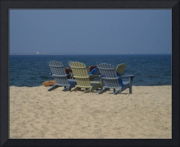 Beach Chairs On Cape Cod Bay