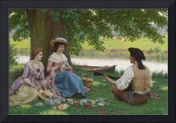 Edmund Blair Leighton 1852-1922 A PICNIC PARTY