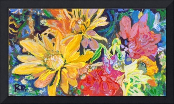 Yellow Red and Orange Happiness Floral Bouquet