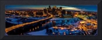 Bird's Eye View of the Minneapolis Skyline