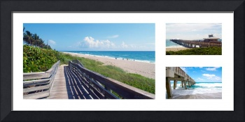 Juno Beach Florida Seascape Collage 1