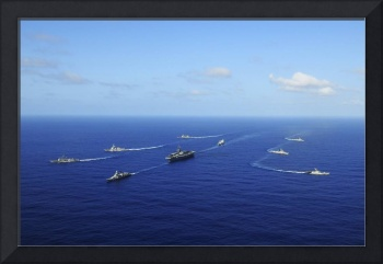 Ships from the Ronald Reagan Carrier Strike Group