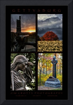 Gettysburg Four Image Poster Print by Jim Crotty