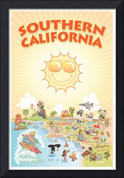 Cartoon Map of Southern California